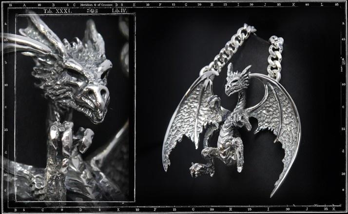Large dragon pendant