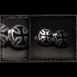 Maltese cross cufflinks (enamel)