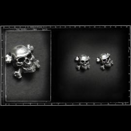 Skull & cb stud earrings