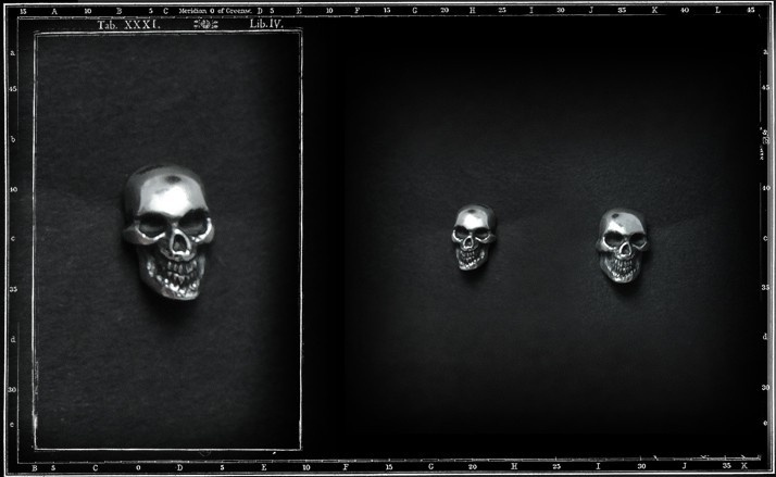 Skull & jaw stud earrings
