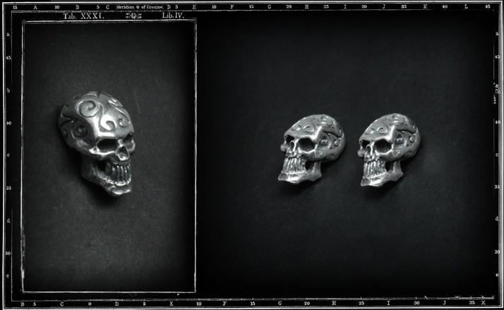Tribal skull stud