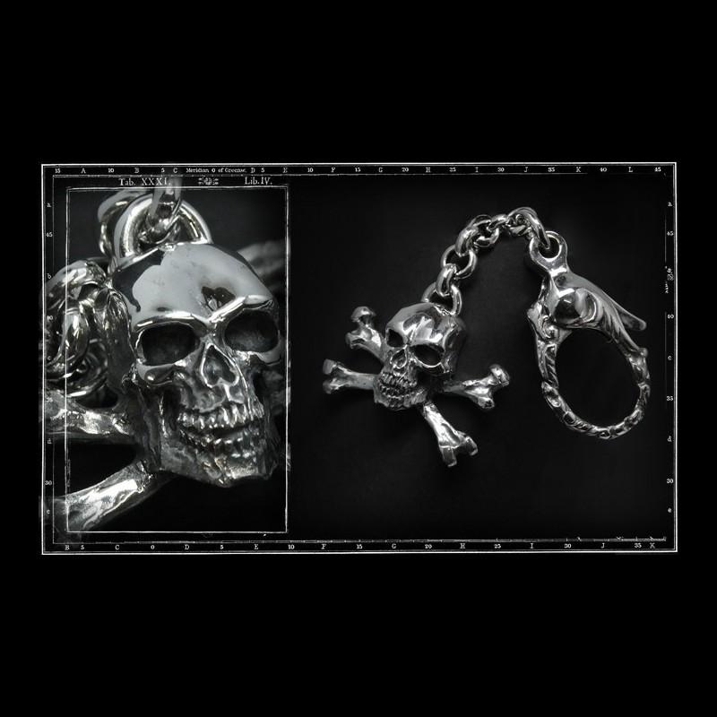 Skull & crossbones keyring