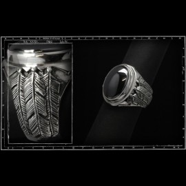 Three feathers ring (small)
