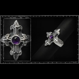 Gothic cross Stone ring